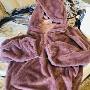 Oversized plush lilac favorite hoodie soft